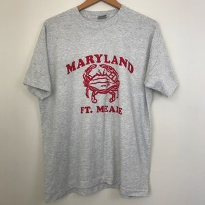 Vintage Maryland Ft.Meade Crab T-Shirt